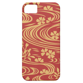 Beautiful flowers flowing river floats iPhone 5 cover