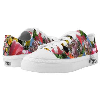 Beautiful flowers Low Top Zipz Shoes