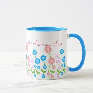 Beautiful flowers mug for daughter