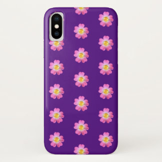 Beautiful flowers with golden center iPhone x case