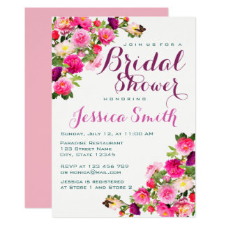 Beautiful Flowery Bridal Shower Invitation