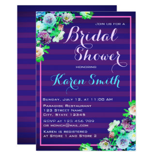 Beautiful Flowery Bridal Shower Invites