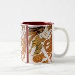 Beautiful  Flowing Dancing Vintage Woman Coffee Mug