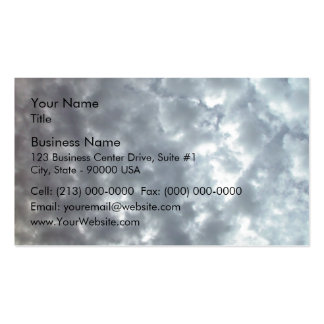 Beautiful fluffy white clouds business card template