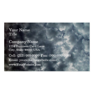 Beautiful fluffy white clouds business card templates