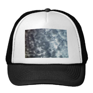 Beautiful fluffy white clouds mesh hats