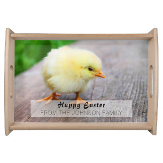 Beautiful fluffy Yellow Chicken Serving Tray