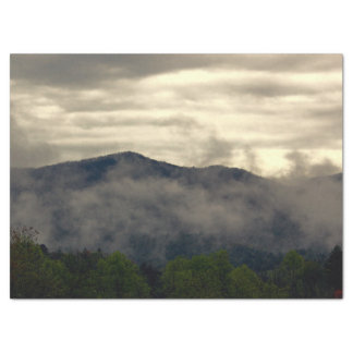 Beautiful Foggy Mountain Landscape Photo Tissue Paper