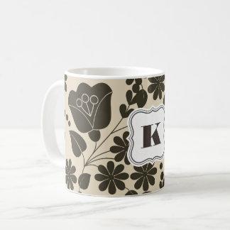 Beautiful Folk Art Floral Coffee Mug