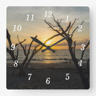 Beautiful Folly Morning Square Wall Clock
