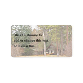 Beautiful Forest Cabin Label