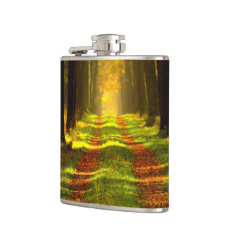 Beautiful Forest in Autumn Hip Flask