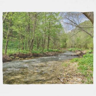 Beautiful Forest Stream Picture Fleece Blanket