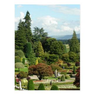 Beautiful formal gardens Drummond Castle Postcard