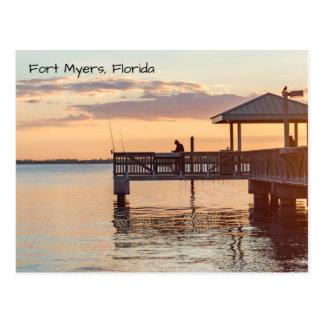 Beautiful Fort Myers Florida Sunset Postcard