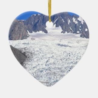 Beautiful Fox Glacier New Zealand Ceramic Heart Decoration