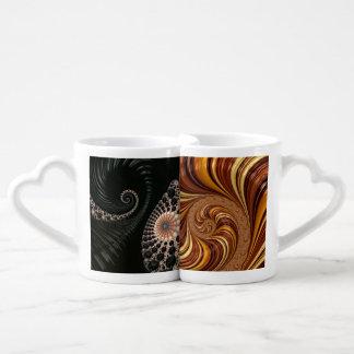 Beautiful Fractal Art Decor Couples Mug