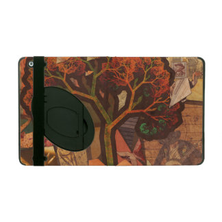 Beautiful Fractal Collage of an Origami Autumn iPad Cover