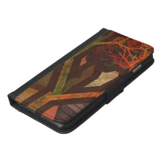 Beautiful Fractal Collage of an Origami Autumn iPhone 6/6s Plus Wallet Case