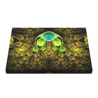 Beautiful Fractal Feathers of the Quetzal Bird Canvas Print