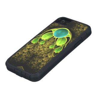 Beautiful Fractal Feathers of the Quetzal Bird iPhone 5 Cover