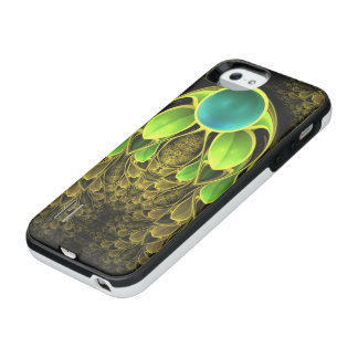 Beautiful Fractal Feathers of the Quetzal Bird iPhone SE/5/5s Battery Case
