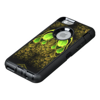 Beautiful Fractal Feathers of the Quetzal Bird OtterBox Defender iPhone Case