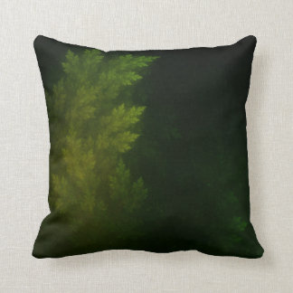 Beautiful Fractal Pines in the Misty Spring Night Cushion