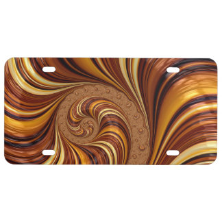 Beautiful Fractal Swirls Art Decor License Plate