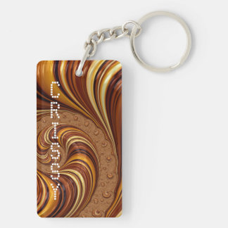 Beautiful Fractal Twirls Art Decor Key Ring
