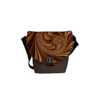 Beautiful Fractal Twirls Art Decor Courier Bag