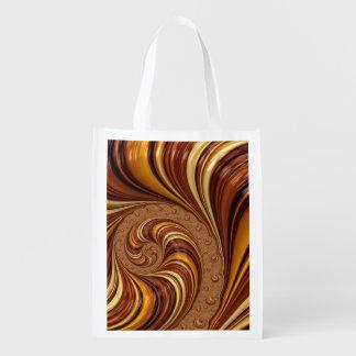 Beautiful Fractal Twirls Art Decor Market Tote