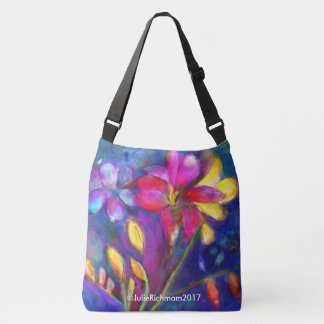 Beautiful Freesia Floral Tote