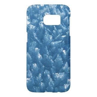 beautiful fresh blue ice crystals photograph