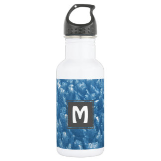 beautiful fresh blue ice crystals photograph 532 ml water bottle
