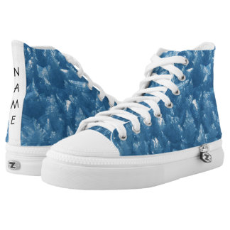 beautiful fresh blue ice crystals photograph high tops