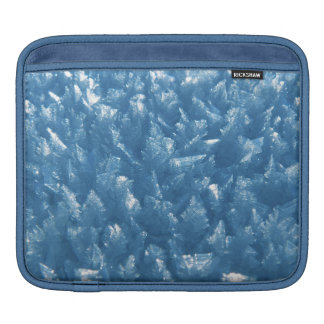 beautiful fresh blue ice crystals photograph iPad sleeve