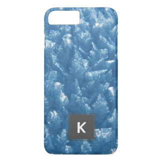 beautiful fresh blue ice crystals photograph iPhone 8 plus/7 plus case