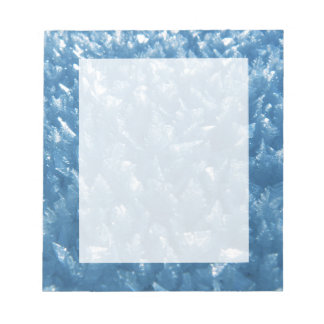 beautiful fresh blue ice crystals photograph notepad