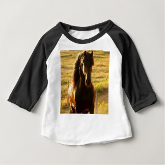 BEAUTIFUL FRIESIAN HORSE STALLION BABY T-Shirt