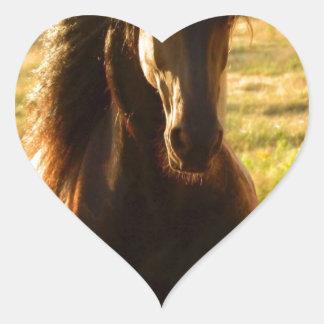 BEAUTIFUL FRIESIAN HORSE STALLION HEART STICKER
