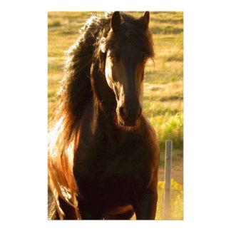 BEAUTIFUL FRIESIAN HORSE STALLION STATIONERY