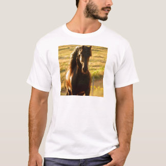 BEAUTIFUL FRIESIAN HORSE STALLION T-Shirt