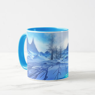 Beautiful Frosty Blue Winter Snow Scene Coffee Mug
