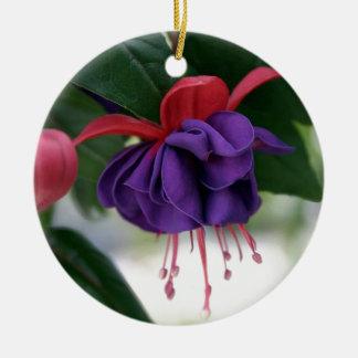 Beautiful Fuchsia Ceramic Ornament
