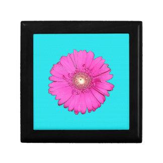 Beautiful Fuchsia Gerbera Daisy Small Square Gift Box
