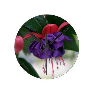 Beautiful Fuchsia Round Clock