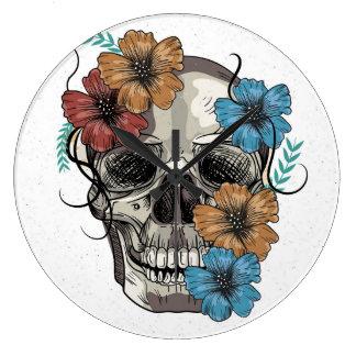 Beautiful funny dead Mexican Women head Skull Large Clock