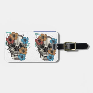 Beautiful funny dead Mexican Women head Skull Luggage Tag