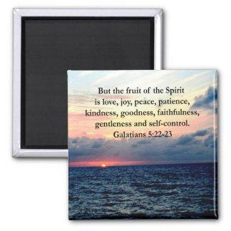 BEAUTIFUL GALATIANS FRUITS OF THE SPIRIT SQUARE MAGNET